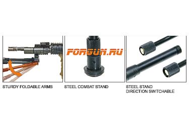 Сошки для оружия Leapers UTG, на ствол 11-19 мм, регулируемые, TL-BP08S