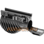 Рукоятка передняя на Weaver/Picatinny, с держателем фонаря 25.4/28.5 мм, быстросьемная, пластик, FAB Defense, FD-MIKI 1 1/8