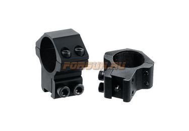 "Кольца Leapers UTG 25,4 мм для установки на ""Ласточкин хвост"", средние, не быстросъемные, RGPM-25M4"