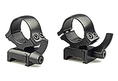Кольца 25,4 мм на Weaver быстросъемные, высота 15 мм, сталь Kozap Alfa 66 (черный)