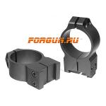 Кольца 30 мм для Tikka высота 14 мм Warne Fixed High, 15TM, сталь (черный)