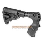 Приклад для Remington 870, телескопический, рукоятка, пластик, компенсатор отдачи, FAB Defense, FD-AGR 870 FKSB