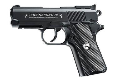 Пневматический пистолет Umarex Colt Defender, с пластиковыми насадками, чёрный, 5.8310