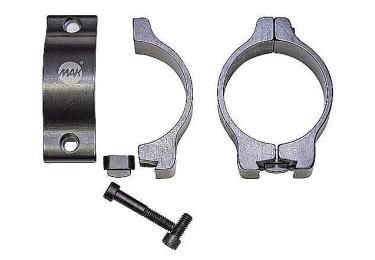 Кольца MAK Skand для прицелов 30 мм на призму 10-12 мм супернизкие (5612-3005)