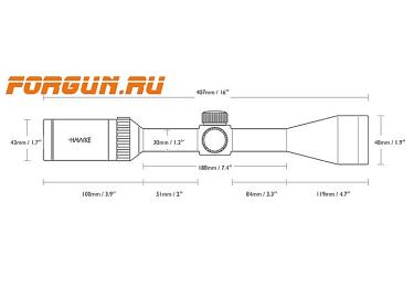 Оптический прицел Hawke +Sidewinder 30 SF 8.5-25x42, 30 мм, c подсветкой, отстройка параллакса, 20x ½ Mil Dot, 17120