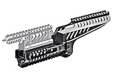 Кронштейн цевье для АК, Сайга МК и Вепрь 133,136 CAA tactical XRS47-BR, алюминий, черный