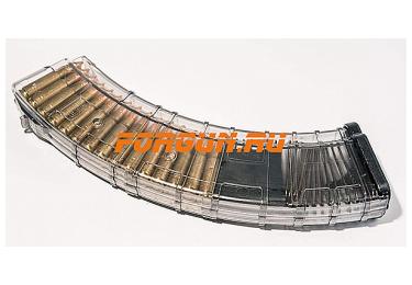 Магазин 7,62x39 мм (.30, .366 ТКМ) на 40 патронов для АК, АКМ, Вепря или Сайги, пластик, Pufgun, Mag SGA762 40-40/Tr
