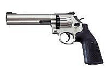 """Пневматический пистолет револьвер Smith&Wesson 586 6"""". Отделка """"никель""""(Umarex)"""