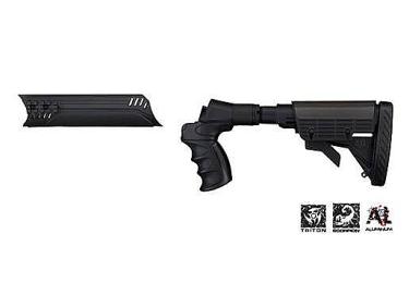 Приклад телескопический нескладной и цевье для Remington ATI A.1.10.1156 (черный)