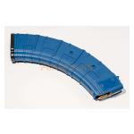Магазин Pufgun на ВПО-136/АК/АКМ/Сайга (с сухарем), 7,62х39, 40 патронов, полимер, возм. укорочения, синий, 240 г