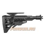 Приклад для ВПО-205 Вепрь 12 складной (вместо складных) телескопический, компенсатор отдачи, щека, FAB Defense, FD-M4-VEPR FK SB CP
