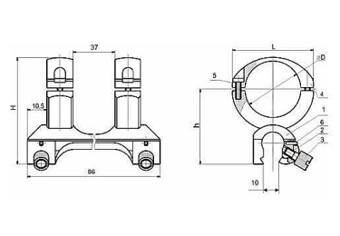 Кронштейн для оптики ЭСТ БА (Бекас Авто)