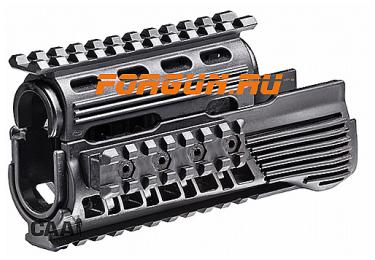 Кронштейн цевье для АК, Сайга МК и Вепрь 133,136 CAA tactical RS47-SET пластик, черный