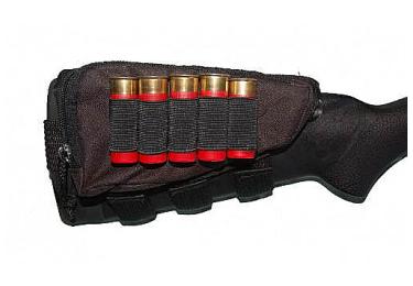 Подщечник для приклада ME с патранташом на 5 патронов 12 кал., с карманом, 400002