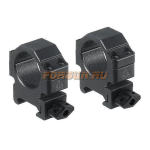 Кольца Leapers UTG 25,4 мм для установки на Weaver/Picatinny, низкие, быстросъемные, ширина 18 мм, RG2W1104