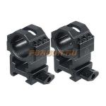 Кольца Leapers UTG 25,4 мм для установки на Weaver/Picatinny, высокие, быстросъемные, ширина 25 мм, RG2W1206