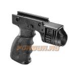 Рукоятка передняя на Weaver/Picatinny, с держателем фонаря 25.4 мм, пластик, FAB Defense, FD-T-GRIP