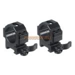 Кольца Leapers UTG 30 мм для установки на Weaver/Picatinny, низкие, быстросъемные, ширина 22 мм, RQ2W3104