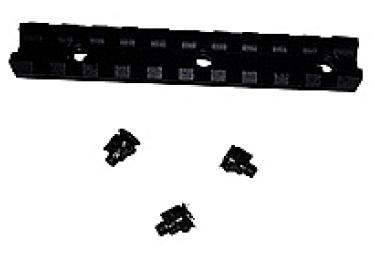 Кронштейн база планка вивер/пикатини на цевье Сайга 12, 20 кал., МЕ 600028