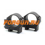 Кольца 30 мм на Weaver быстросъемные, высота 10 мм, сталь Luman Precision низкие LP30LOW (черный)