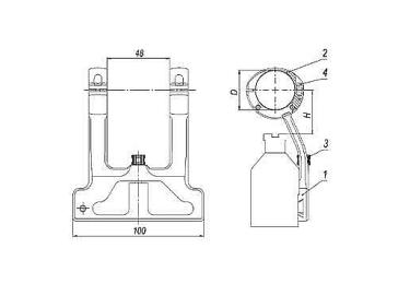 Кронштейн для оптики ЭСТ КТ-30 (Тигр, КО-44, КО-91), 30мм