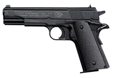 Пневматический пистолет Umarex Colt Government 1911, пластиковый, чёрный, 4170040/4170000