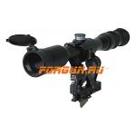 Оптический прицел Беломо ПОСП 8x42 В PRO с тактическими барабанчиками (для Вепрь/Сайга)