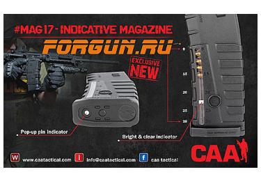 Магазин 5,56х45 мм (.223REM) на 30 патронов для M16/M4/AR-15 MAG17 2 шт, CAA tactical COP17, полимер, черный