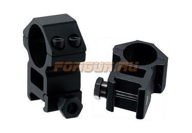 Кольца Leapers UTG 25,4 мм для установки на Weaver/Picatinny, высокие, ширина 21 мм, RGWM-25H4