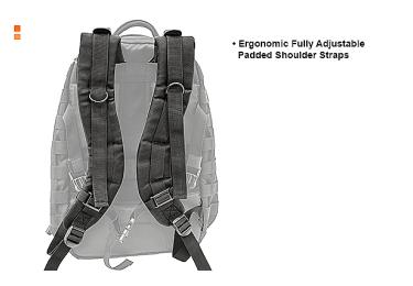 Тактический рюкзак Leapers UTG 1-Day, двухлямочный, черный цвет, PVC-P124B