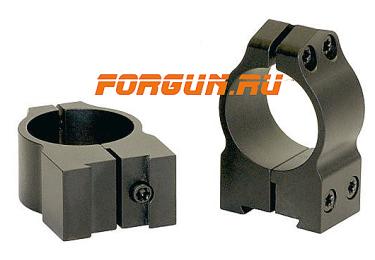 Кольца 25,4 мм для CZ 527 высота 10 мм Warne Fixed Medium, 1B1M, сталь (черный)