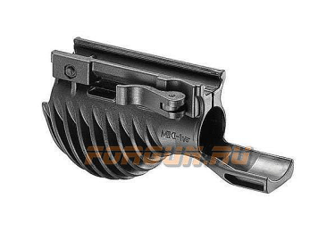 Рукоятка передняя на Weaver/Picatinny, с держателем фонаря 25.4 мм, быстросьемная, пластик, FAB Defense, FD-MIKI 1