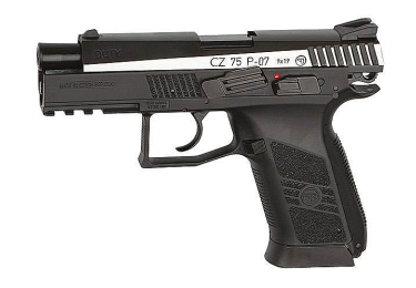 Пневматический пистолет ASG CZ-75 P-07 DUTY DT двуцветный blowback, 16533