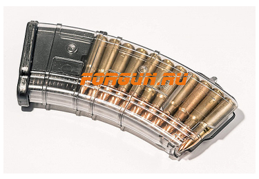 Магазин 7,62x39 мм (.30, .366 ТКМ) на 20 патронов для АК, АКМ, Вепря или Сайги, пластик, Pufgun, Mag SGA762 40-20/Tr