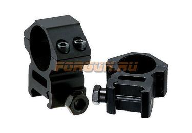 Кольца Leapers UTG 25,4 мм для установки на Weaver/Picatinny, средние, ширина 21 мм, RGWM-25M4
