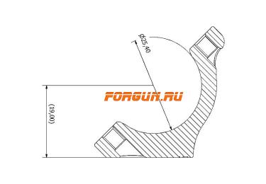 Кольца Spuhr Hunting D26мм H19mm на Blaser, c одним интерфейсом, небыстросьемные, HB20-19