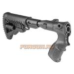 Приклад для Remington 870, телескопический, рукоятка, пластик, компенсатор отдачи, складной, FAB Defense, FD-AGRF 870 FKSB
