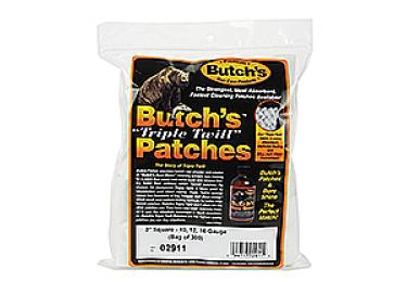 Патчи хлопковые 12-20 кал., 300 шт, Lyman Butch's Triple Twill, 02911