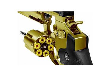 Пневматический револьвер ASG Dan Wesson 2.5 дюйма, кал. 4.5, золотистый, 17374