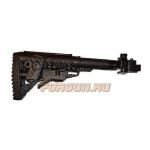 Приклад для АКМ складной (вместо нескладных), телескопический, щека, FAB Defense, FD-M4-AK CP