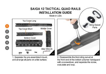 Кронштейн цевье для Сайга 12, Leapers UTG, MNT-HGSG12
