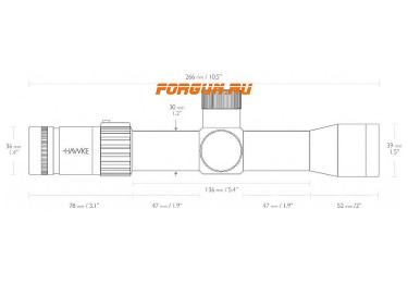 Оптический прицел Hawke Airmax Touch 3-12×32 SF IR (AMX IR), с подсветкой, с боковой отстройкой параллакса, 13260