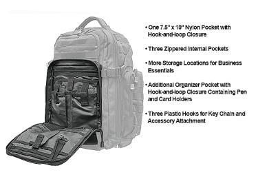 Тактический рюкзак Leapers UTG 2-Day, двухлямочный, черный цвет, PVC-P248B