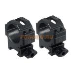 Кольца Leapers UTG 30 мм для установки на Weaver/Picatinny, низкие, быстросъемные, ширина 22 мм, RG2W3104