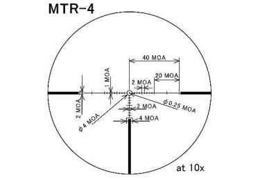 Оптический прицел March 2,5-25x52 с подсветкой, SF, MTR-4, 0.1MIL (D25V52TI)