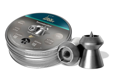 Пульки к пневматике 4.5 мм H&N Terminator (калибр .177), (вес – 0.47г) банка 400 шт