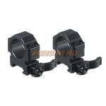 Кольца Leapers UTG 25,4 мм для установки на Weaver/Picatinny, низкие, быстросъемные, ширина 18 мм, RQ2W1104