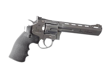 Пневматический револьвер ASG Dan Wesson 6 дюймов, никель, цельнометаллический, 16559