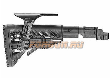 Приклад для АКМ нескладной (вместо нескладных), телескопический, пластик, компенсатор отдачи, щека, FAB Defense, FD-SBT-K47 FK CP