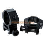 Кольца Leapers UTG 25,4 мм для установки на Weaver/Picatinny, средние, ширина 16 мм, RGWM-25L2